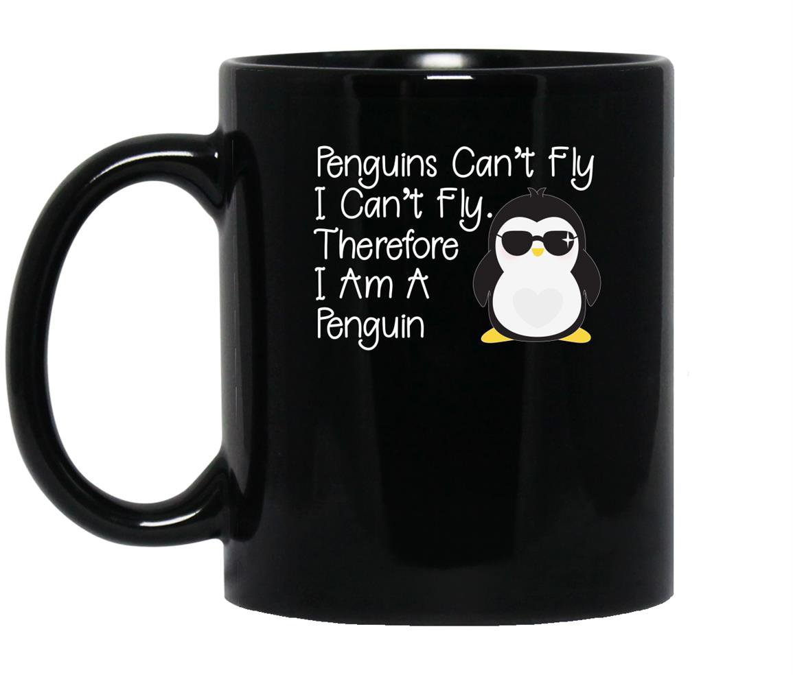 Penguins can�t fly penguin penguin Mug Black