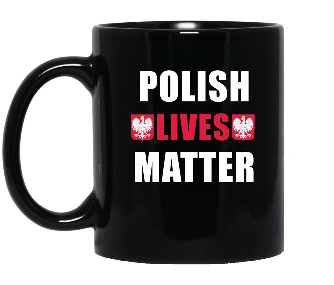 Polish lives matter with flag ornaments Mug Black