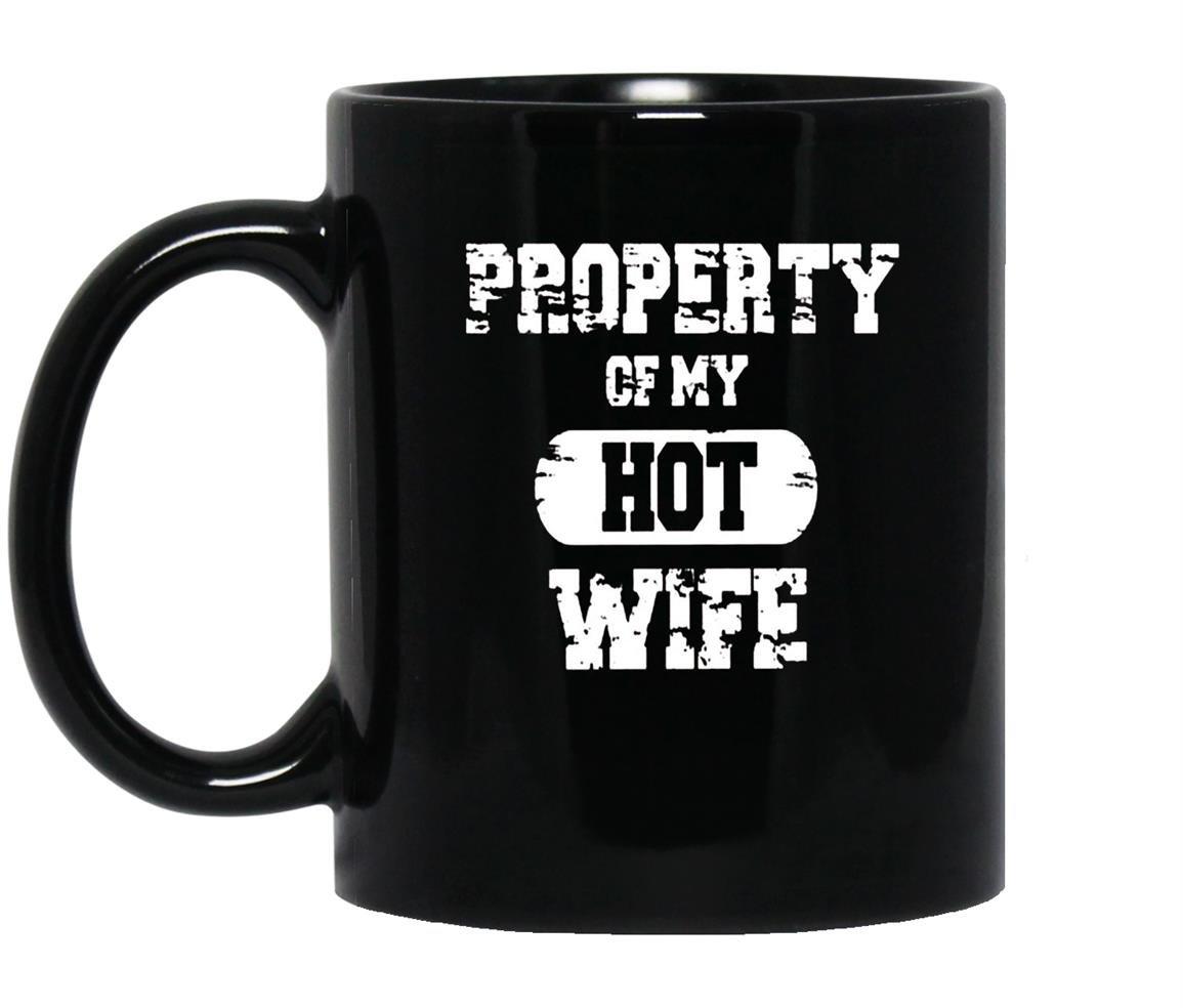 Property of my hot funny valentines day Mug Black