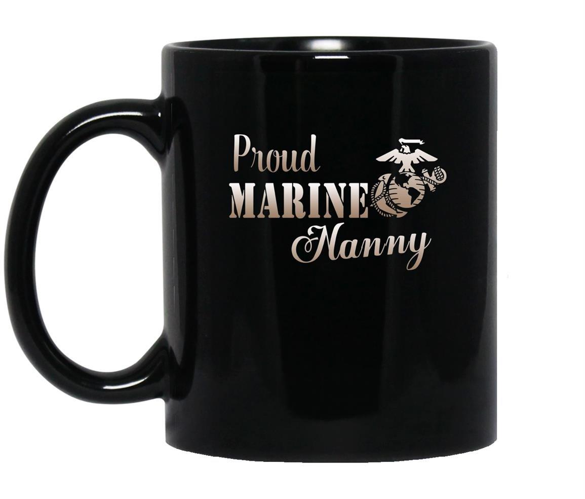 Proud marine nanny Mug Black