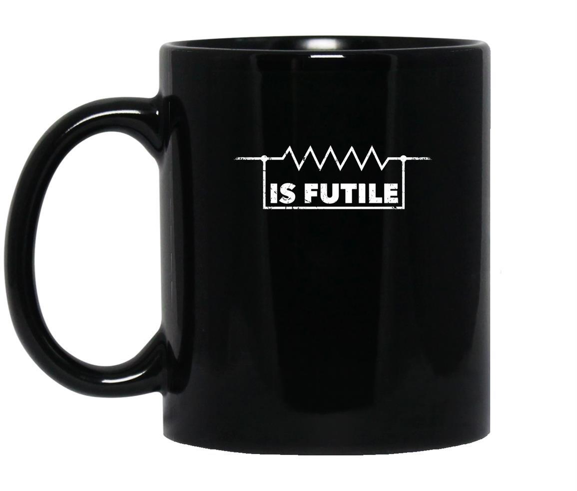 Resistance futile electrical engineering Mug Black