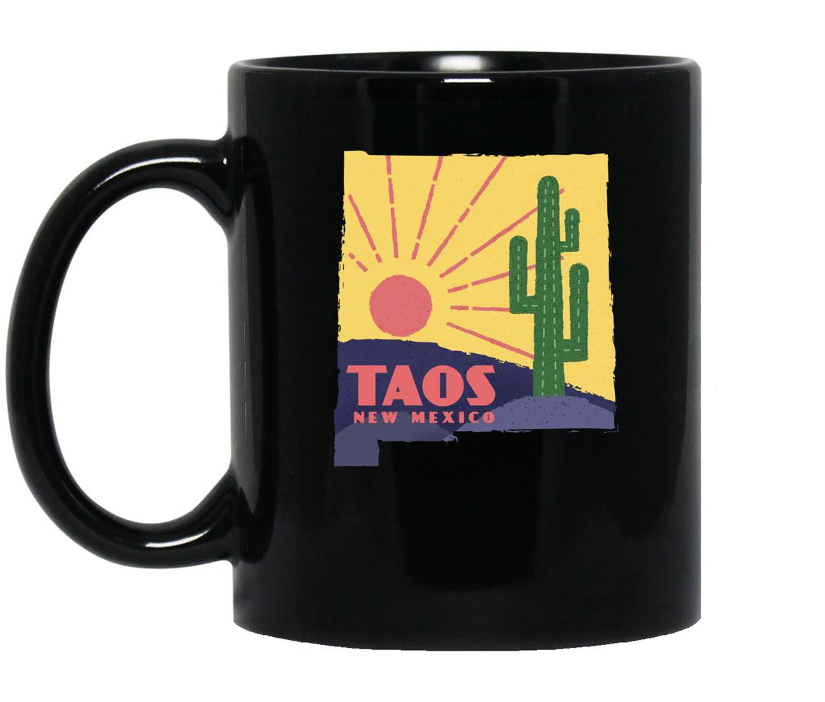 Taos nm new mexico classic retro vintage graphic Mug Black