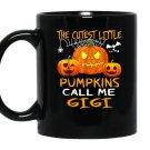 The cutest little pumpkins call me gigi halloween Mug Black