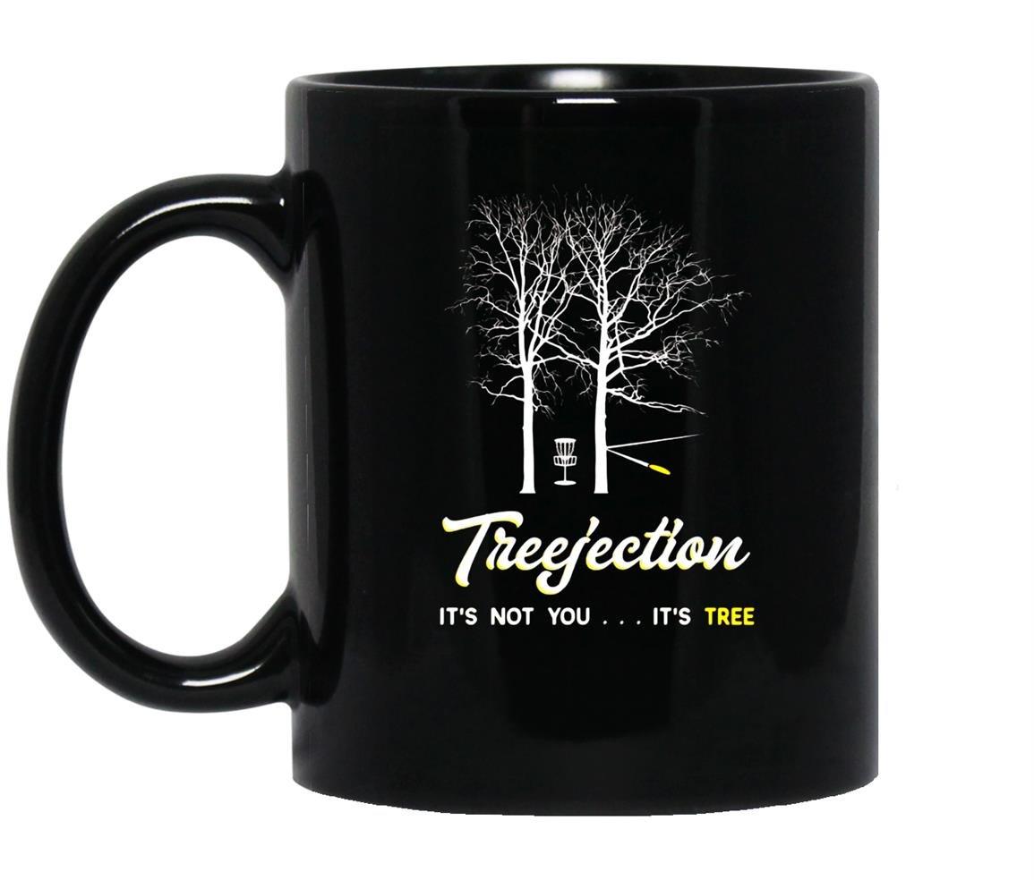 Treejection funny disc golf Mug Black