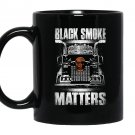 Trucker smoke matters truck driver Mug Black