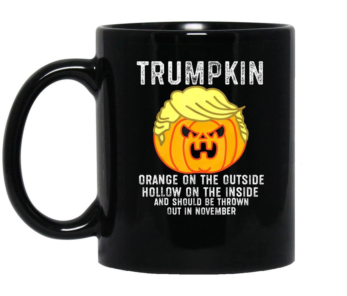 Trumpkin orange on the outside hollow on the inside Mug Black