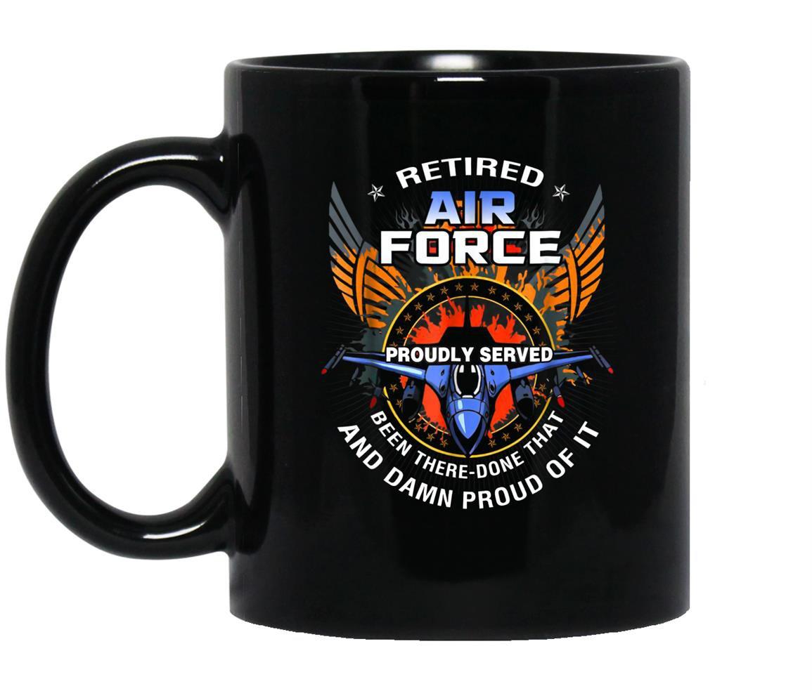 Us air force retired veteran retirement military Mug Black