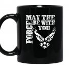 Us air force funny force gift logo usaf Mug Black