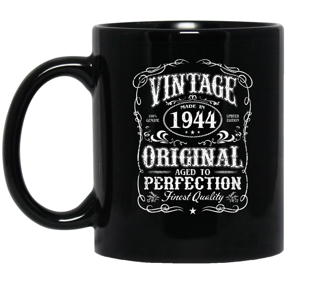 Vintage made in 1944 original birthday Mug Black
