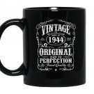 Vintage made in 1944 original birthday Mug Black