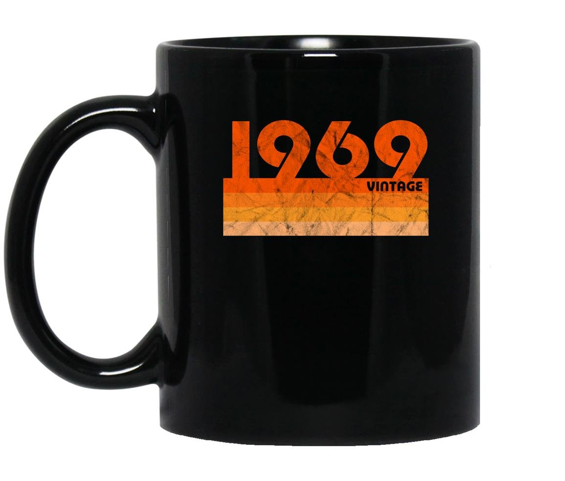Vintage retro 1969 birthday Mug Black