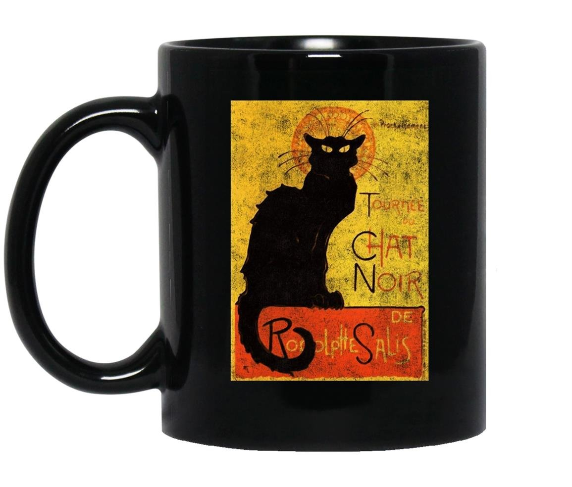 Vintage tournee du chat noir cat halloween Mug Black