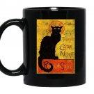 Vintage tournee du chat noir cat halloween Mug Black