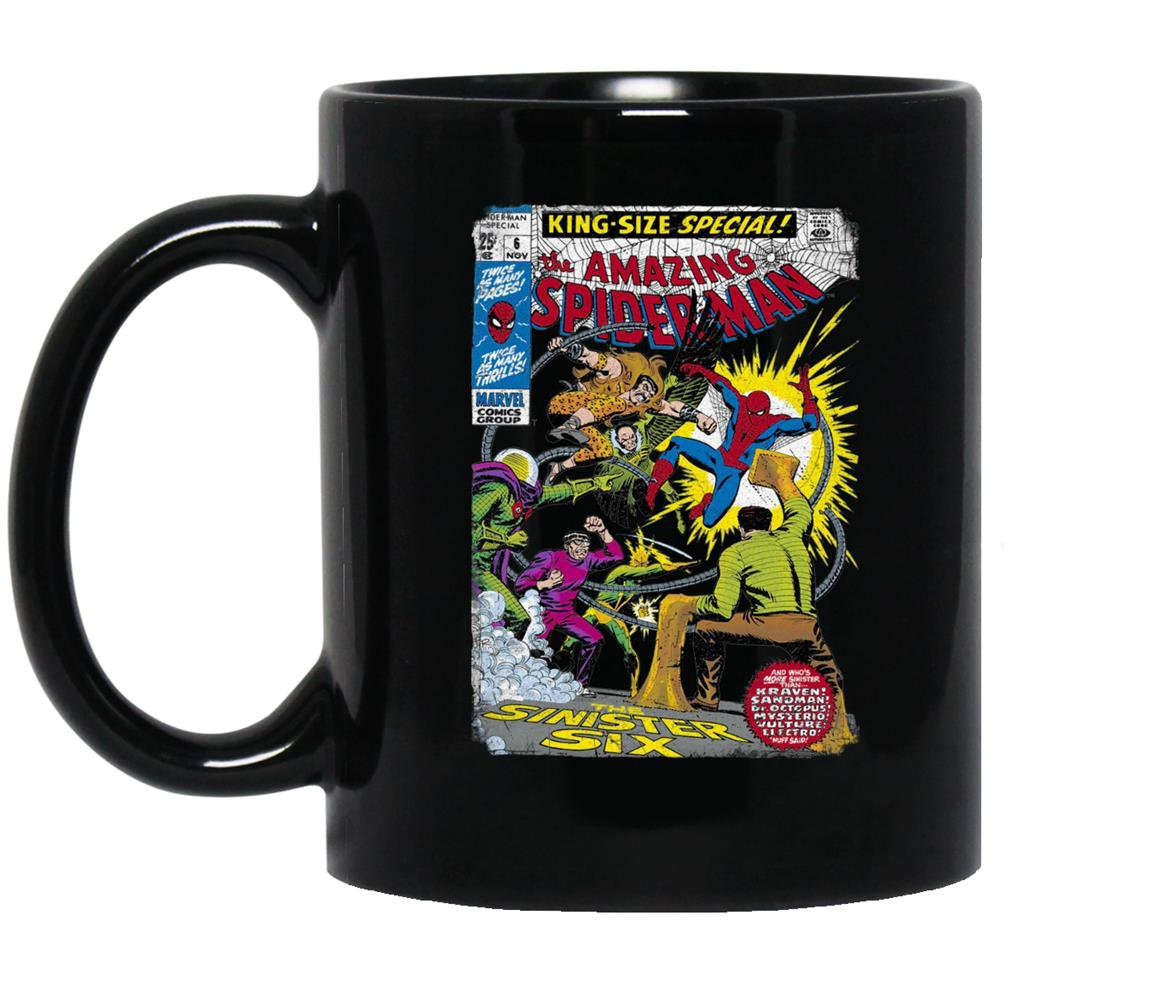 Spider man sinister graphic Mug Black