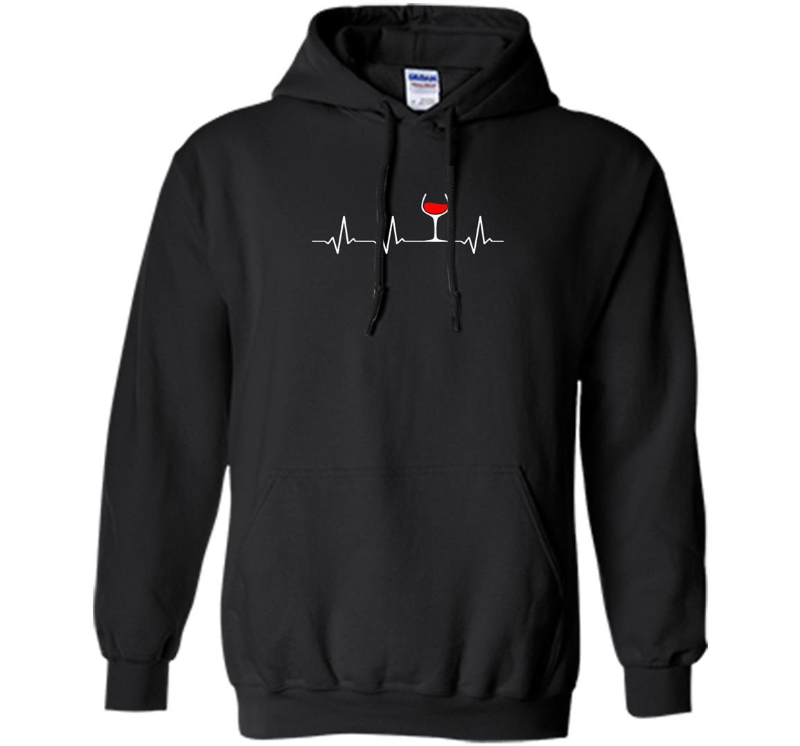 Wine heartbeat glass of wine Hoodie