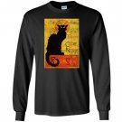 Vintage tournee du chat noir cat halloween Long Sleeve