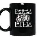 Farmer farm funny farm life Mug Black