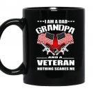 Im a dad grandpa veteran 4th july independence day Mug Black