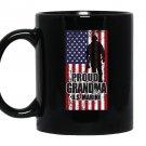 Proud grandma of a u.s marine american flag Mug Black