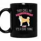 They call me crazy shiba inu lady for dog lover Mug Black