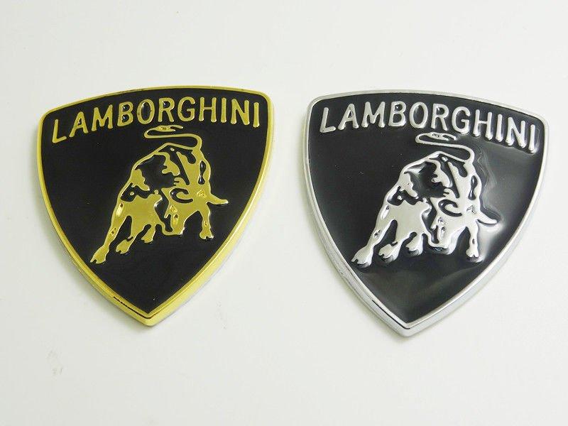 Lamborghini Logo 3d Metal Stickers Emblem Badge Decals