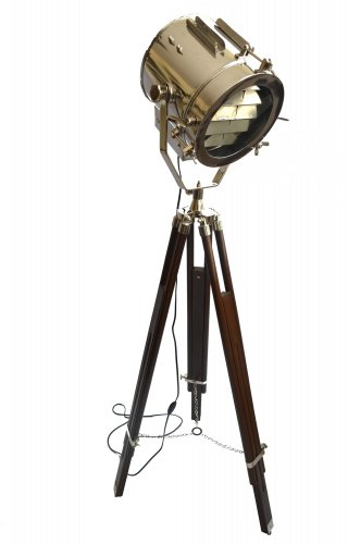 INDUSTRIAL SEARCHLIGHT WITH BROWN TRIPOD STAND