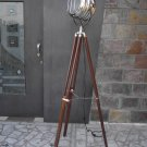 SEARCH LIGHT WITH  BROWN WOOD TRIPOD STAND