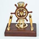 Nautical Ship Wheel Pen Holder