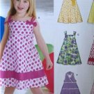 New Look Sewing Pattern 6613 Girls Childs Dress Size 3-8 Uncut