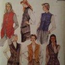 McCalls Sewing Pattern 7914 Ladies / Misses LIned Vests Size 10-14 Uncut