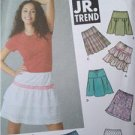 Simplicity Sewing Pattern 5101 Juniors Teens Mini Skirts  5 Designs 3/4- 9/10