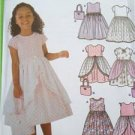 Simplicity Sewing Pattern 5229 Childs Girls Dress Trim and Purse Size 3-6