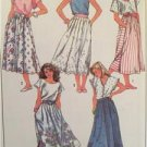 Simplicity Sewing Pattern 8028 Ladies Misses Pleated Skirts Size 10 Uncut