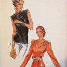 Butterick Sewing Pattern 6910 Ladies / Misses Blouse Size 12 Uncut