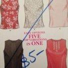 New Look Sewing Pattern 6161 Ladies Top Five Variations Size 6-16