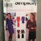 Simplicity Sewing Pattern 9792 Ladies / Misses Dress Top Skirt Size 8-14 UC