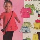 McCalls Sewing Pattern 4501 Toddlers Top Dress Pants Bag Size 1-4 Uncut