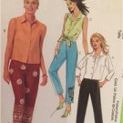McCalls Sewing Pattern 4034 Ladies Misses Tops & Pants Size 12-18 Uncut