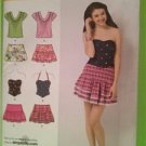 Simplicity Sewing Pattern 2620 Junior Skirt  Tops Size 3/4-9/10