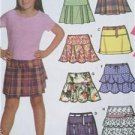 Simplicity Sewing Pattern 5084 Childs Girls Mini Skirt 7 Designs 8 1/2- 16 1/2