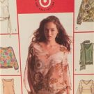 McCalls Sewing Pattern 4514 Ladies Misses Tops Scarf Size 14-20 Uncut