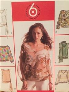McCalls Sewing Pattern 4514 Ladies Misses Tops Scarf Size 14-20 Uncut