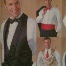 McCalls Sewing Pattern 4321 Mens Vest Bow Tie Cummerbund Uncut Size S-L