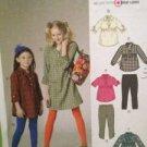 McCalls Sewing Pattern 6156 Child Girls Top Dress Leggings Size 7-14 Uncut
