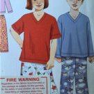 Simplicity Sewing Pattern 2047 Girls Boys Childs Sleepwear Size 3-8 Uncut