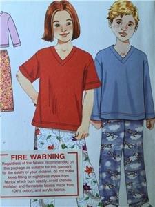 Simplicity Sewing Pattern 2047 Girls Boys Childs Sleepwear Size 3-8 Uncut