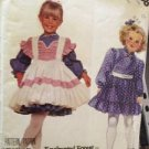 McCalls Sewing Pattern 3398 Girls Dresses & Pinafore Size 4-6 Uncut