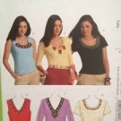 McCalls Sewing Pattern 5854 Ladies / Misses Tops Size XS-MD Uncut