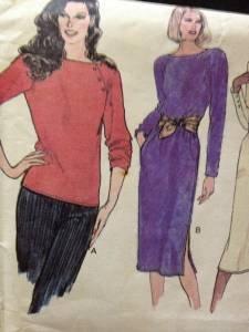 Vogue Sewing Pattern 7505 Ladies / Misses Top & Dress Size 8 Uncut