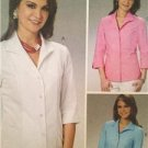 McCalls Sewing Pattern 6076 Ladies Misses Shirts Size 16-22 Uncut